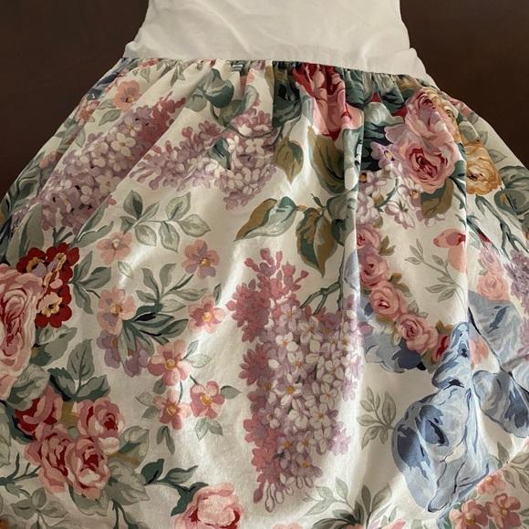RALPH LAUREN ALLISON Queen Floral Roses Bedskirt